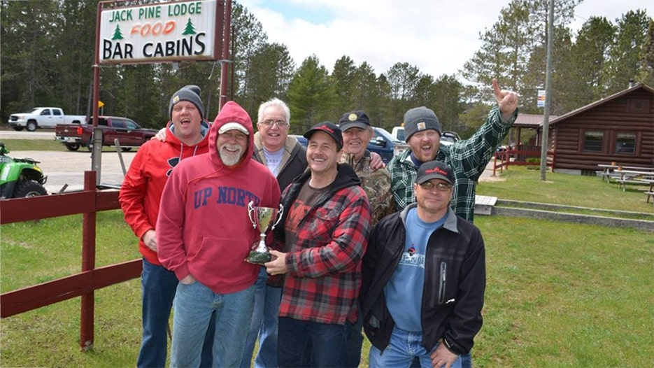 SORVA members posing with a trophy